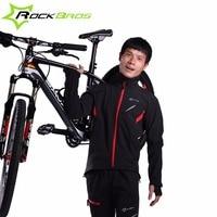 ROCKBROS Cycling Jacket Winter Sport Fleece Thermal Warm Windproof Riding Bicycle Jerseys Water Resistant Bike Reflective