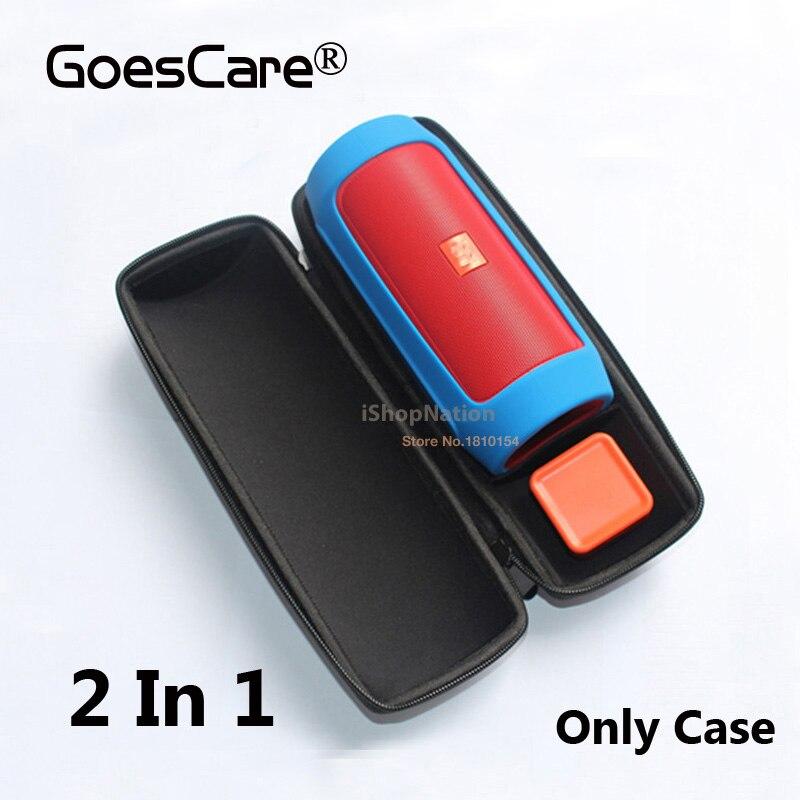 imágenes para 2 En 1 Para JBL Cobran 2 + Plus/Carga 2 Altavoz Bluetooth Caso de La Cubierta Protectora Bolsa de Viaje Carry Bag + Caso TPU de Silicona Suave piel