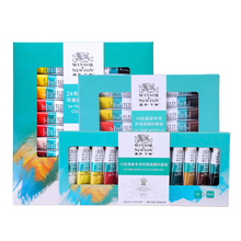 Acrylic paint set 12/18/24 color waterproof not easy to fade diy hand-painted cobblestone painted paint art supplies цена