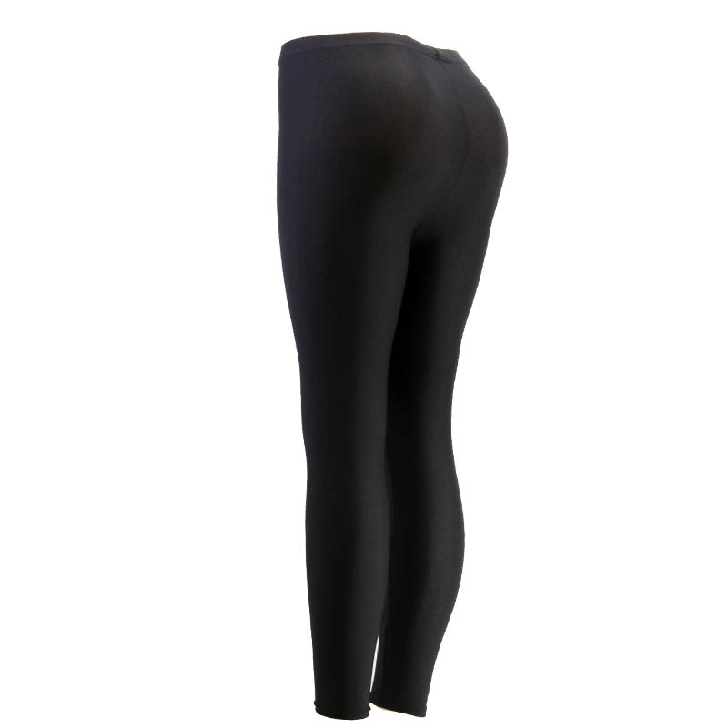 0f14cba86ee Wulekue Black Solid Fluorescent Leggings Women Casual Plus Size Multicolor  Shiny Glossy Legging Female Elastic Pant-in Leggings from Women s Clothing  on ...
