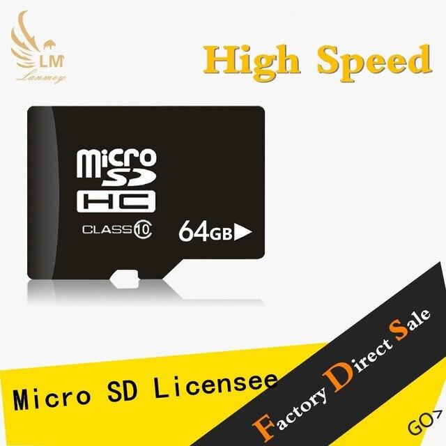 Завод OEM полная памяти карта карта micro sd 64 ГБ массовая Карта Micro Sd с адаптером