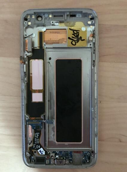 galaxy s7 краю жк-экрана с доставкой из России