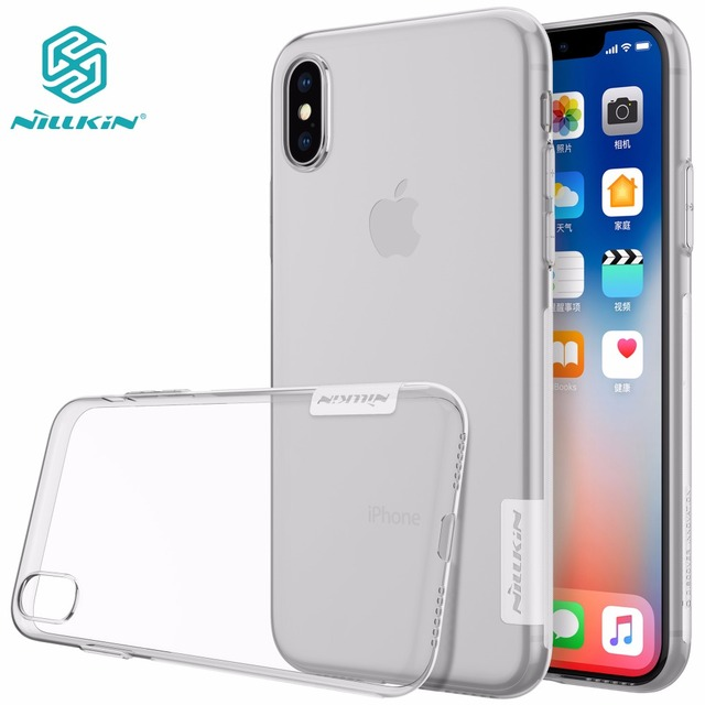 Case For iphone X NILLKIN Nature TPU Ultra Thin Transparent soft iphone X cover iphone X Case with Retail package