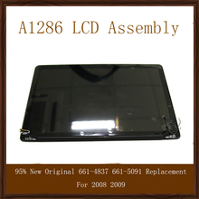 "95% New Original  15"" A1286 Full LCD Screen Display Assembly 661-4837 661-5091 Replacement For 2008 2009"