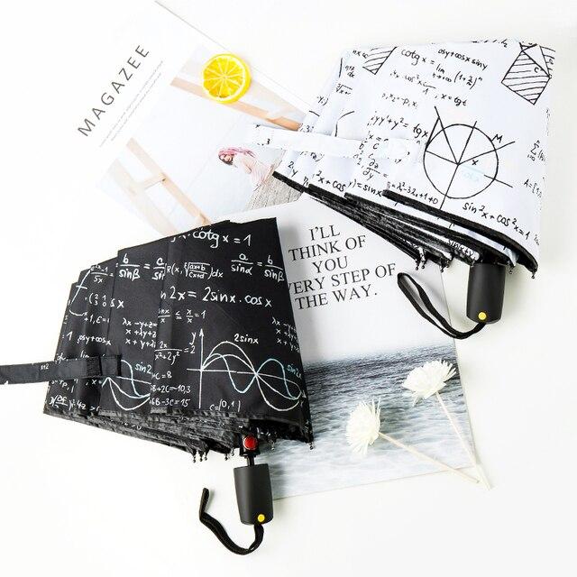 LIBERAINY оригинальный дизайн формула формулы учебный зонтик Математическая физика химия от дождя и солнца анти-УФ студенческий черный белый подарок