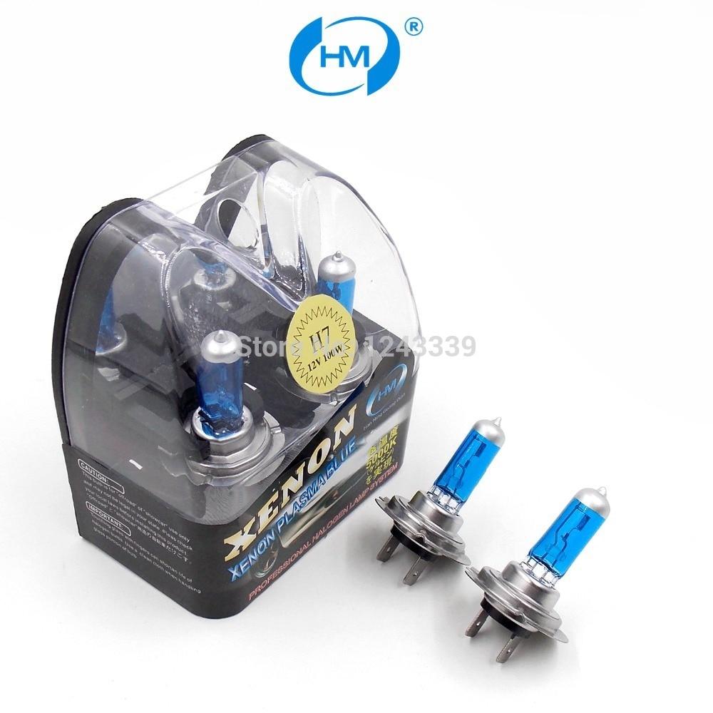 HM Ксенон плазменным супер белый свет H7 12 В 100 Вт галогенные автомобильные головы Лампочки лампы (пара)