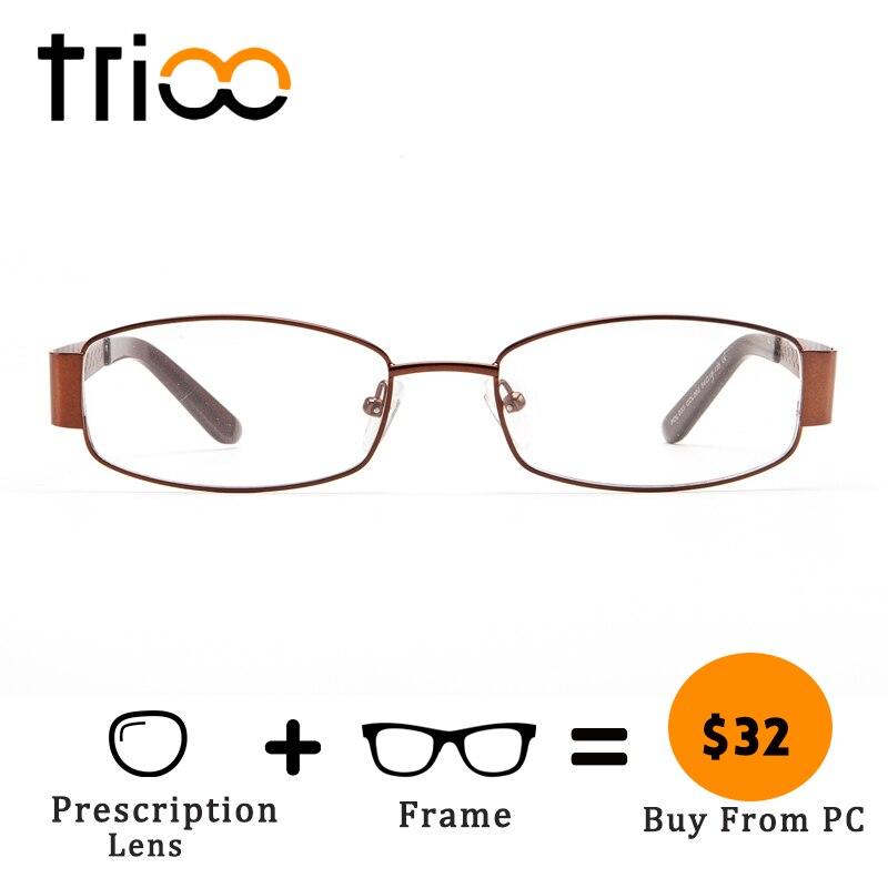 Objektiv Trioo Herren Brille Gläser Klar Brillen Carving c2 Qualität Oval Lesen Progressive Hohe C3 Diamant Metall OqrOEPwT