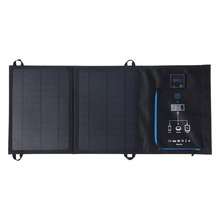 12W Dual USB Folding Solar Charger Solar Panel Module Power Bank Outdoor Emergency Cell Phone Charger Voltage Current Display