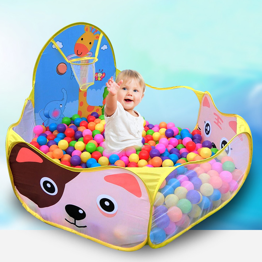 Baby Tents Children Baby Boys Girls Ocean Ball Pit Pool Game Arena Play Tent With Basketball Hoop A Playpen Outdoor No Ball