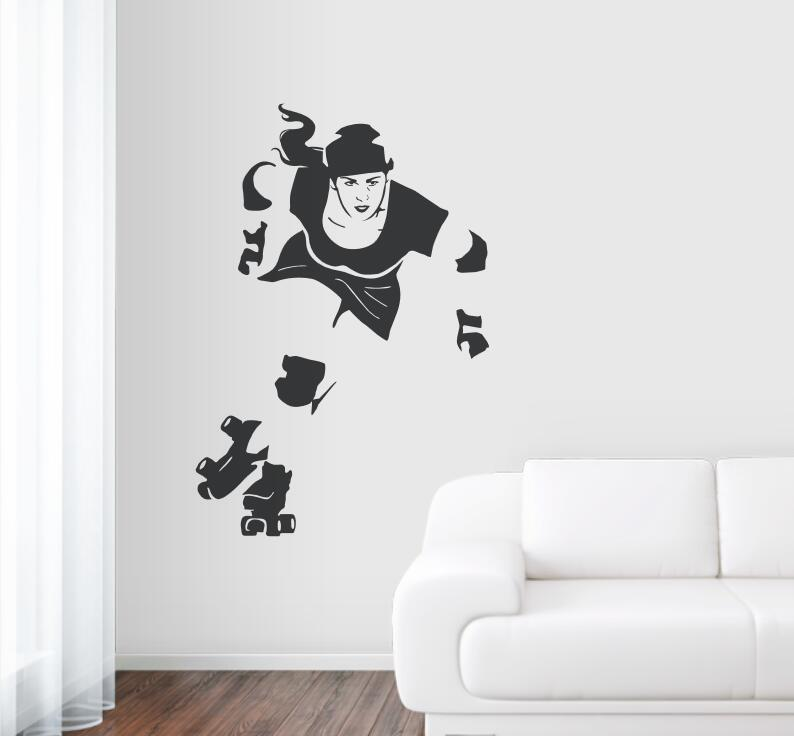 High Quality Sport Art Decal Mural Derby Girl Wall Stickers Home Decor Living Room Removable Vinyl Sticker Wallpaper ZA690 ...