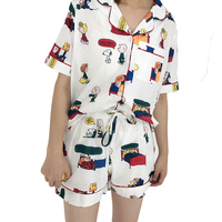 Cartoon Sleepwear Plus Size Cotton Set Summer Sleeping Wear Pijama Ropa Interior Lingerie Dress Camisa Dormir Sleep Clothes VY40