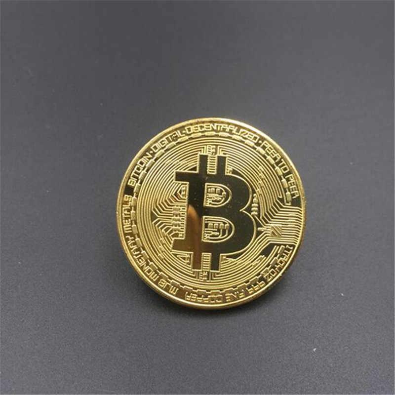 Позолоченная железная Биткойн памятная значение Коллекционная монета реквизит аксессуары Рождественский подарок памятная монета