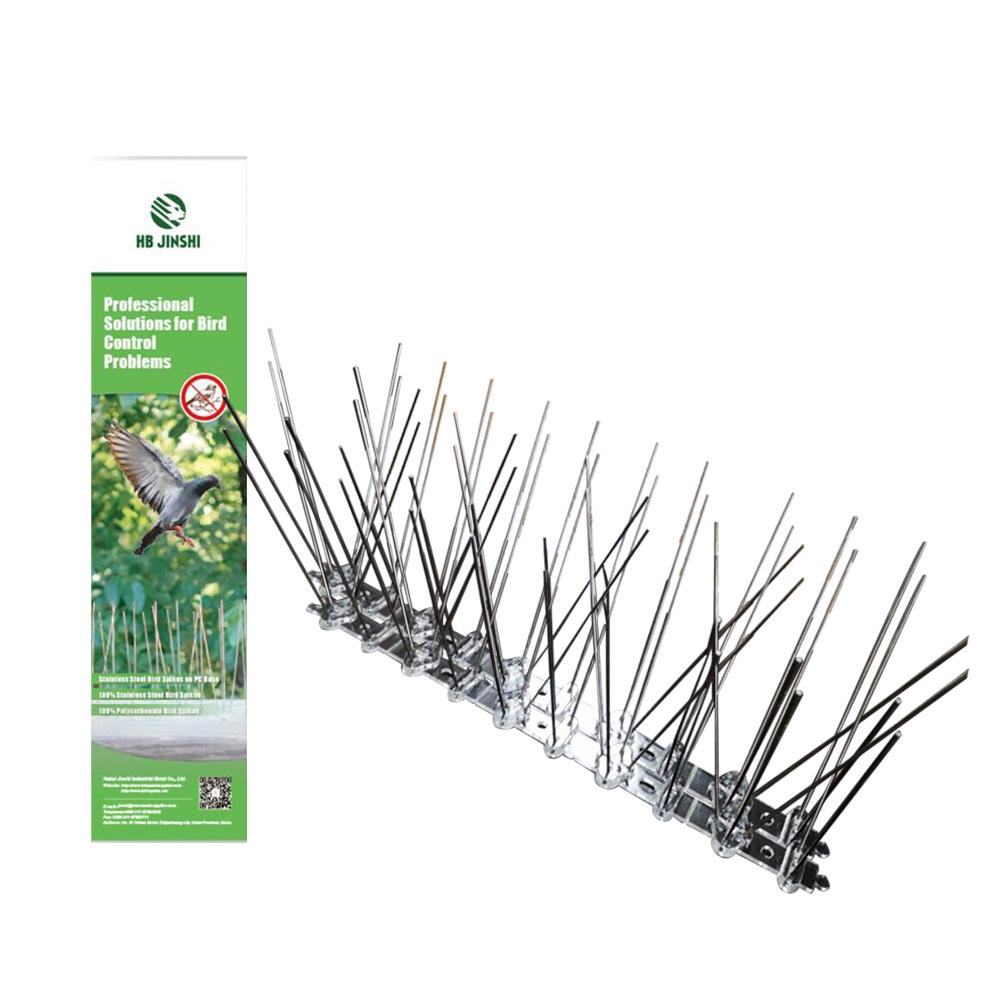 1PC 25CM Stainless Steel Bird Spikes Eco-friendly Anti Pigeon Nail Bird Deterrent Tool For Pigeons And Other Small Birds Fence