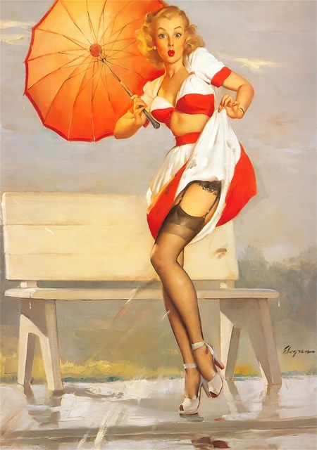 Paris Fashion Pin Up Girl Pop Art Poster Classic Vintage Retro Kraft