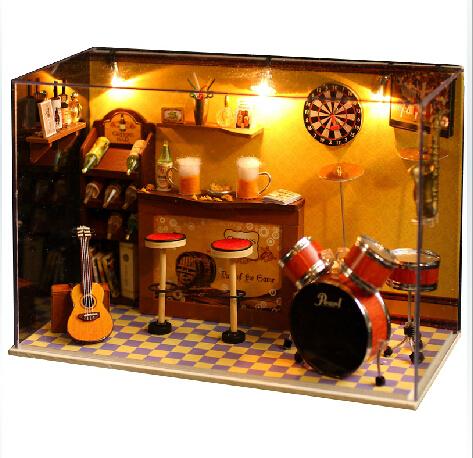 Handmade Music Room Themed 3D Miniature Wooden Doll House