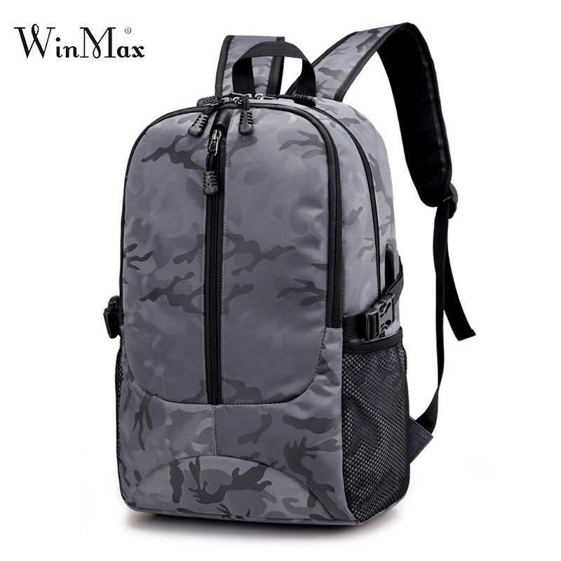 2018 New Men Camouflage Backpack Usb Bagpack Large Capacity Laptop Backpack For Men Boys School Backpack Bag Male Travel Mochila ozuko 14 inch laptop backpack large capacity waterproof men business computer bag oxford travel mochila school bag for teenagers