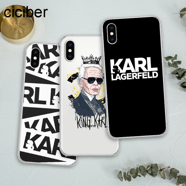 save off b9619 5972b US $1.75 50% OFF|ciciber Best New Karl Lagerfeld Soft Silicon Phone Cases  Cover for IPhone Case X XS Max XR 7 5S 8 6s Plus Capinhas Fundas Capa-in ...