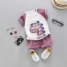 Brand Summer New Baby Outfits Boy Girl Clothing Set Dinasour Tshirt + Shorts 2 Clothes Suits