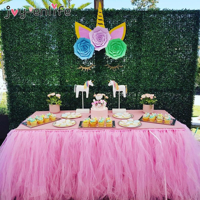 Partido De Unicornio Bricolaje Decoracion De Flores De Papel De 1st