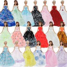 048b797e3c89f Rastgele 10x prenses düğün elbisesi parti kıyafeti moda barbie bebek  aksesuarları için karışık stilleri giyim yüksek kaliteli gi.