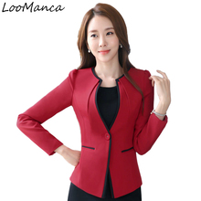 Plus Size Casual Slim Women Jacket Blazer Female Business Suit Female Jackets Elegant Blaser Mujer 2018 Autumn Ladies Coats