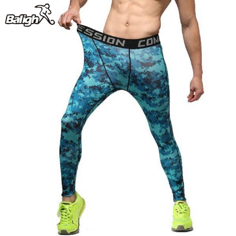 Balight Mens Sport Running Pants Slim Compression Leggings Camo Print Base Layer Long Trousers
