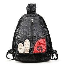Женщин кожа pu рюкзак сумки для девочек колледжа женская мода рюкзаки женщина back pack ежедневно плеча дорожная сумка школьный