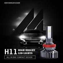 H11 H8 H9 LED Headlight Bulbs Car H4 H7 H1 9005 9006 9012 880 ZES LED 40W 8000LM 6500K 12V Auto Headlamp Fog Lights Car Styling eurs 7s h4 h7 led car headlight automobile led bulb xhp50 80w 8000lm h1 h11 9005 9006 9012 car styling 6500k dc12 24v