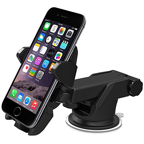 HOT 360 Rotate Windshield Car Mobile Phone Holder Stand Adjustable Support 6 inch For iPhone 5S 6 6S For Samsung Note5 S7 Edge