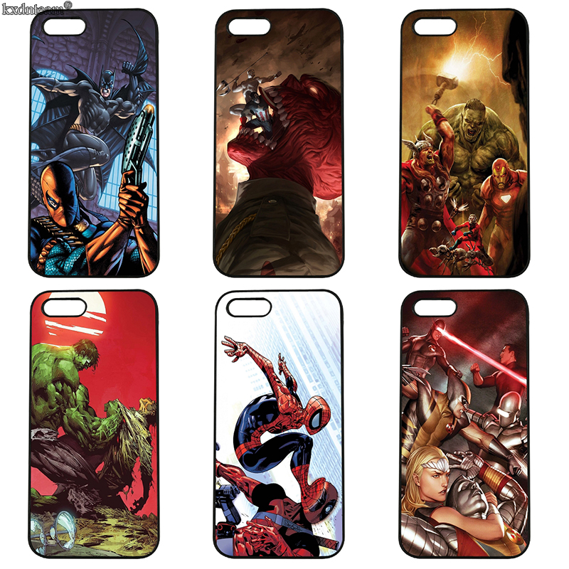 Cell Phone Case Superhero Animation Hard Plastic Cover Fitted for iphone 8 7 6 6S Plus X 5S 5C 5 SE 4 4S iPod Touch 4 5 6 Shell