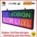 Открытый p6 полноцветная СВЕТОДИОДНАЯ вывеска 40 ''x 18'' поддержка прокрутки текста LED реклама экран/программируемый изображения видео СВЕТОДИОДНЫЙ дисплей