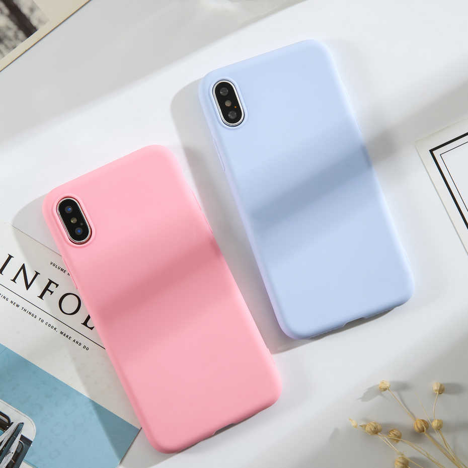 Colorful Cute Case for Samsung A10 A10E A20E A2 Core A20 A30 A40S A40 A50 A60 A70 A80 M10 M30 M20 M40 Soft TPU Cover Matte Candy