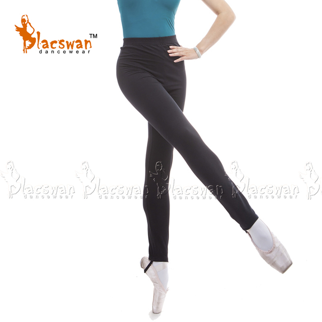 dfb2a0e42e23 Cotton Lycra Elastic waist full length dance pants with loop Girls Stirrup Jazz  Pants Dance Leggings