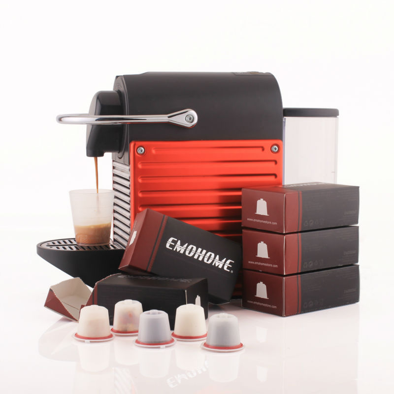 EM 03 Espresso Reusable refillable Coffee Capsule cup compatible with NESPRESSO machines 200 pcs inside no