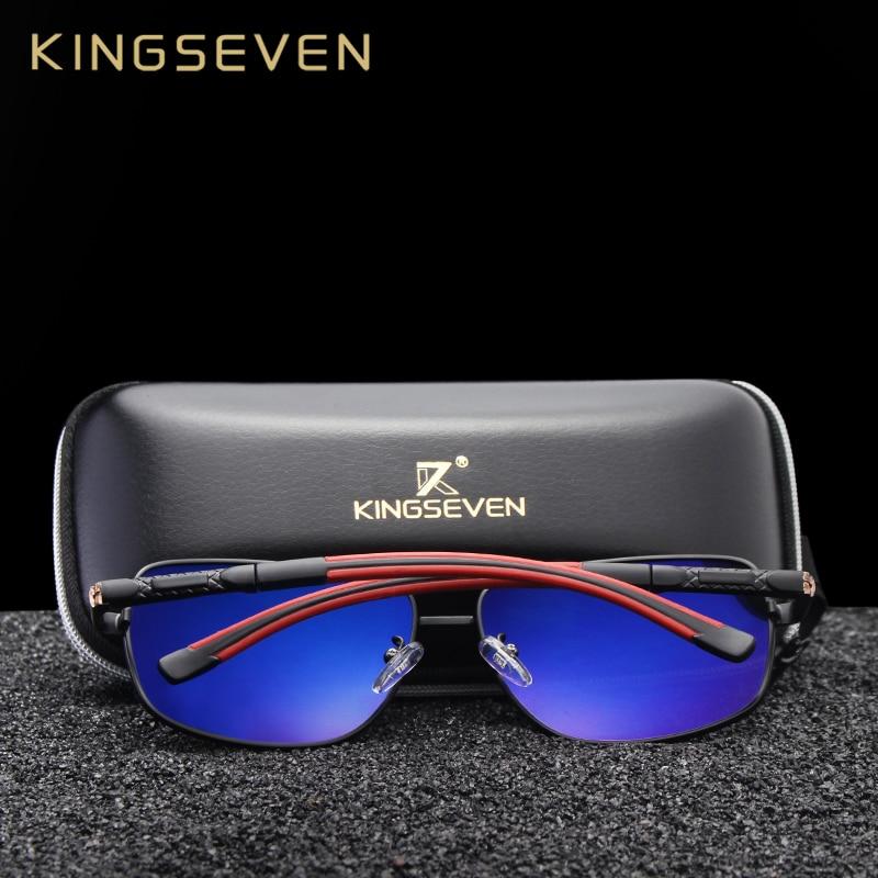 KINGSEVEN 2019 Brand Men Aluminum Sunglasses HD Polarized UV400 Mirror Male Sun Glasses Women For Men Oculos de sol N724 4