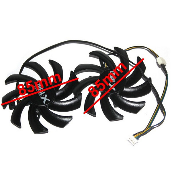 2Pcs/lot Firstd FD7010H12S DC 12V 0.35AMP 4Pin 85MM VGA Card Fan for Sapphire HD7870 HD7950 HD7970 HD7790 graphics card cooling computador cooling fan replacement for msi twin frozr ii r7770 hd 7770 n460 n560 gtx graphics video card fans pld08010s12hh