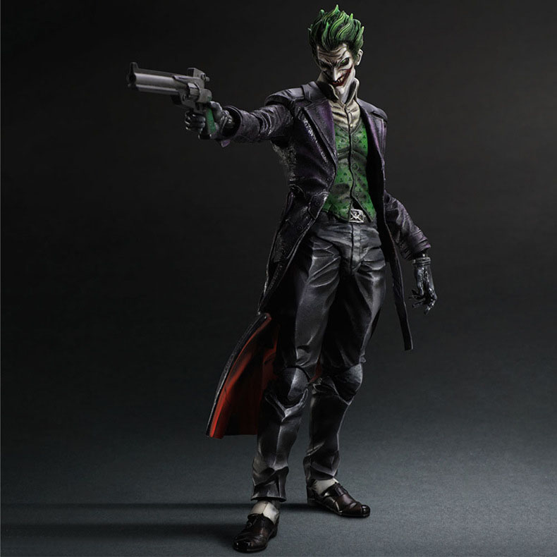 Free Shipping 10 PA KAI Batman Arkham Origins Joker Boxed 26cm PVC Action Figure Collection Model Doll Toy стоимость