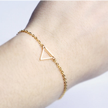 Mossovy Simple Gold Triangle Bracelet for Women Fashion Popular Bracelets for Female Jewelry Accessories Pulseras Mujer недорго, оригинальная цена