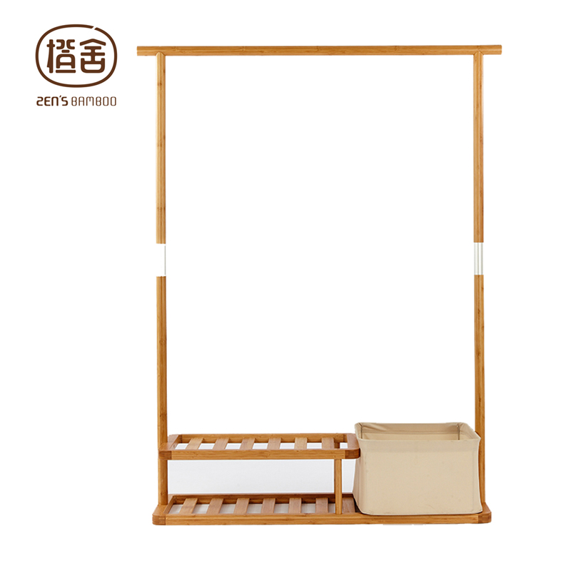 ZENu0027S BAMBOO Clothes Rack Multi Function Coat Hanger Clothing Racks With 2  Tier Portable Living