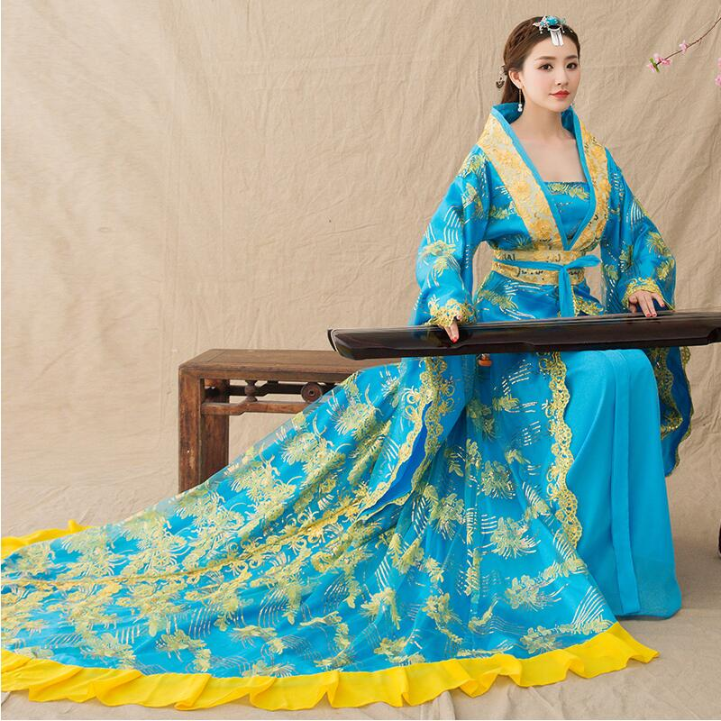 Women Cosplay fairy costume Hanfu clothing Chinese Traditional ancient dress dance stage wear Princess Costume Feminino Dress