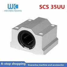 1pc SC35UU SCS35UU Linear motion rolamentos cnc peças bloco de slides bucha para 35 milímetros linear guia do eixo ferroviário peças do CNC