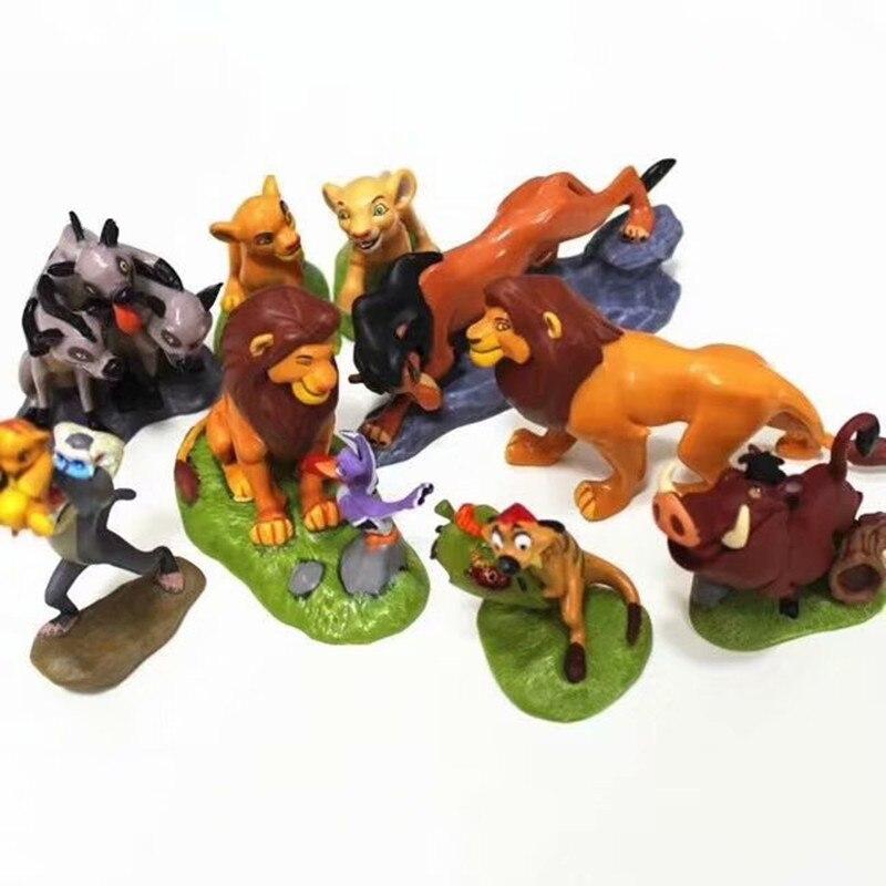 5-9 teile/satz PVC Der König Der Löwen Simba Nala Timon Action Figur Spielzeug Tier Lion Figur Spielzeug Für Kinder 5-9 cm