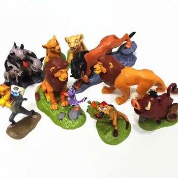 5-9 unids/set PVC El Rey León Simba Nala Timon figura de acción juguete Animal León estatuilla juguetes para niños 5-9 cm