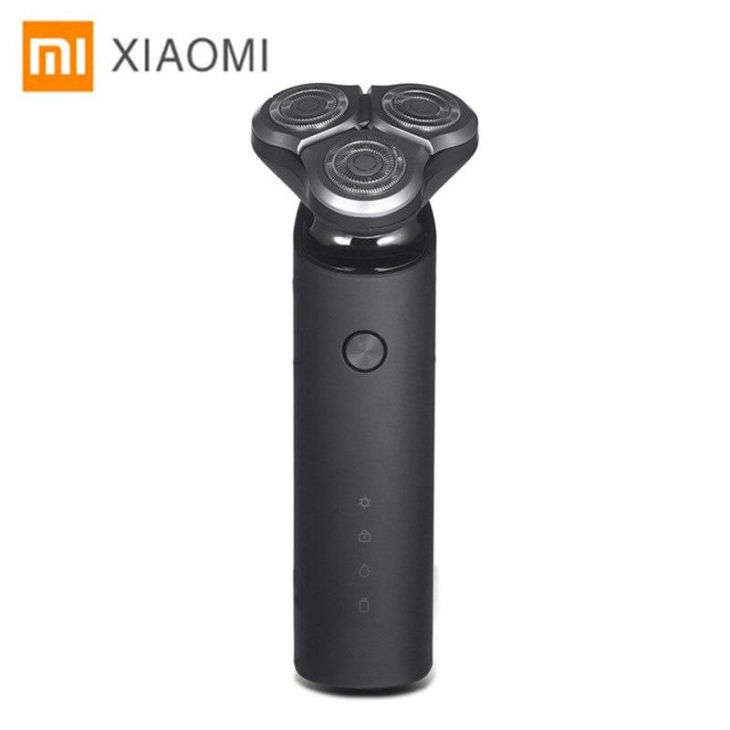 Xiaomi электробритва для мужчин лезвие для машинки для бритья Бритвы триммер для бороды оригинальный 3 головки сухой влажное бритье моющиеся б...