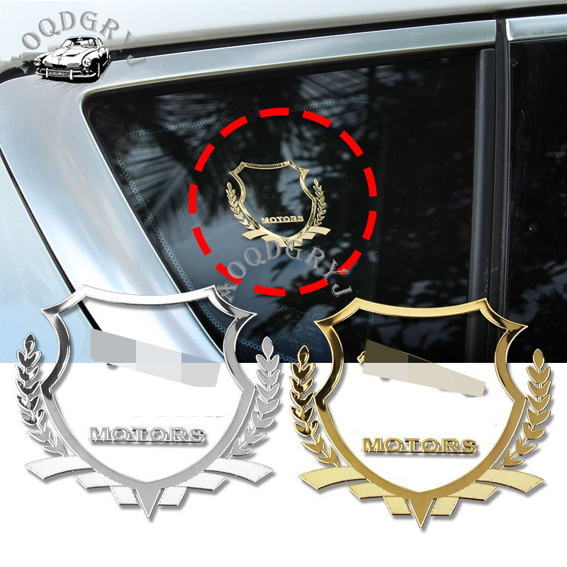 6cm*5.5cm Badge Nickel Metal Car Emblem Thin Decal Sticker Window Body Sticker Car Styling 2pcs