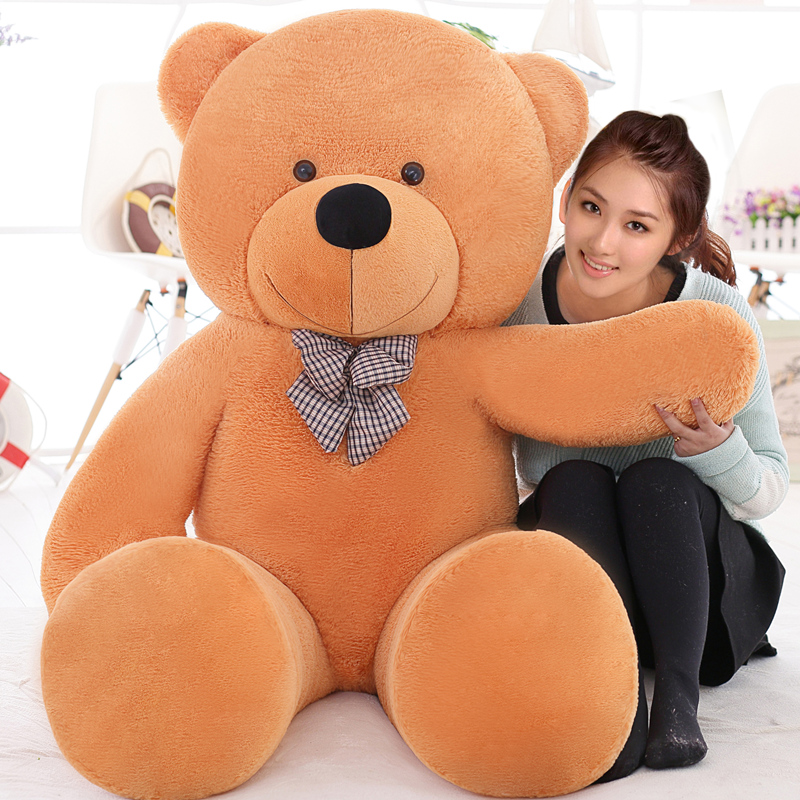 220cm large teddy bear giant big plush toys Life size teddy bear stuffed animals Children soft peluches Christmas gift 2016 movie teddy bear ted 2 plush toys in apron soft stuffed animals plush 45cm