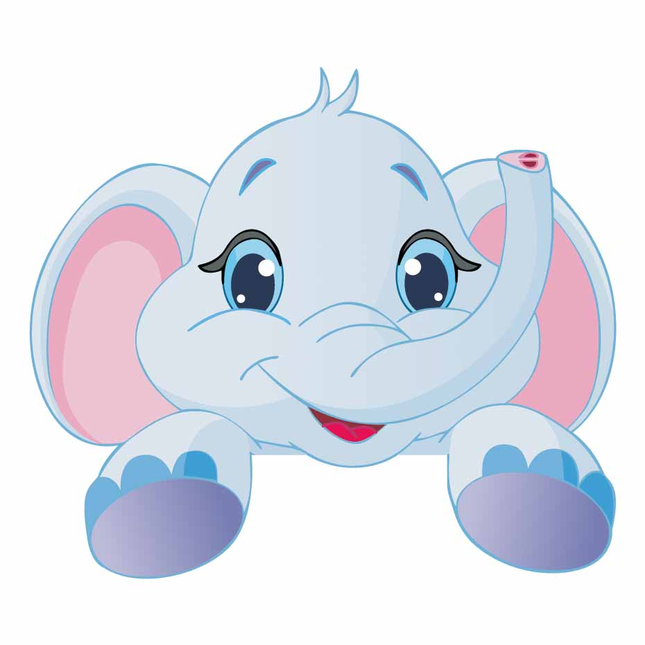 Cartoon Elephant Color Light Switch Wall Sticker For Nursery Baby Bedroom Cute Animal Waterproof Art Decal Wallpaper Home Decor in Wall Stickers from Home Garden