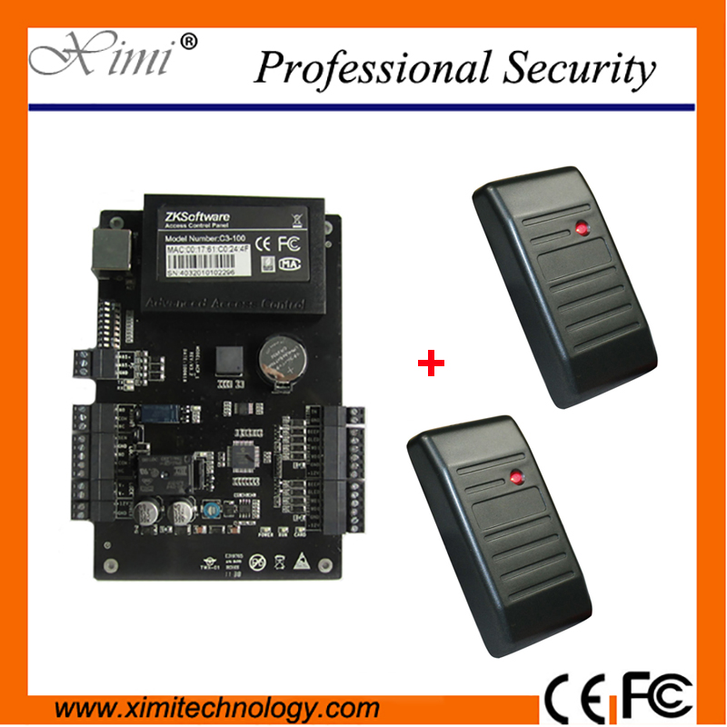 One Door Two Sides Smart Card Door Access Control Card Reader TCP/IP USB RFID Door Access Controller System outdoor mf 13 56mhz weigand 26 door access control rfid card reader with two led lights