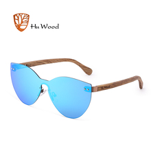 HU ไม้แฟชั่นผู้ชายใหม่แว่นตากันแดดผู้หญิงผีเสื้อแว่นตาไม้กรอบ Rimless Driving ตกปลา UV400 GR8025