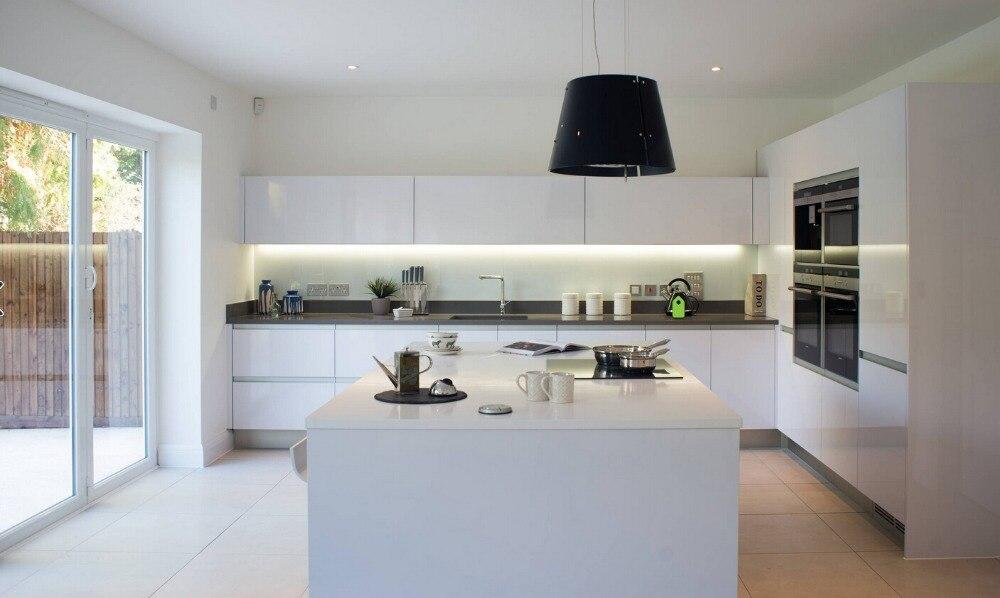 US $148.3 |2019 modulare küche schrank China lieferanten neue design küche  möbel hochglanz weiß lack modulare küche heiße verkäufe-in Küchenkabinett  ...